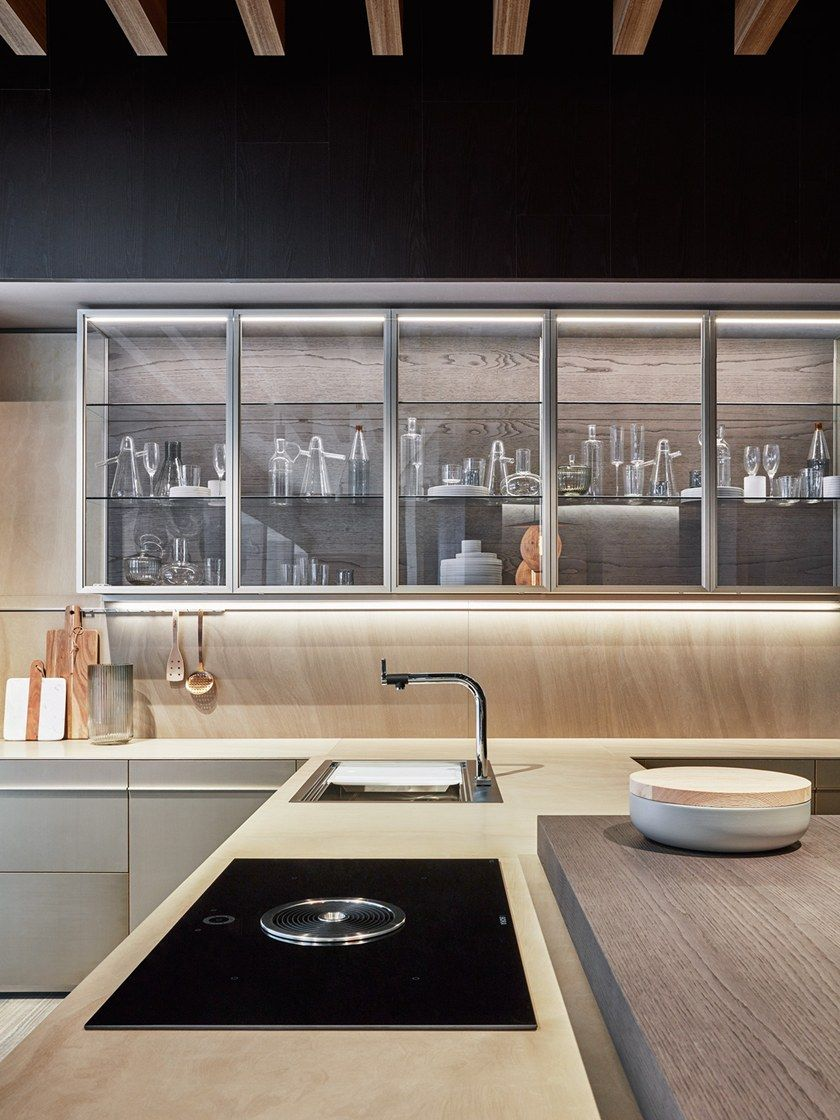 Küchenideen stein kitchen with integrated handles vela by dada  kitchen in