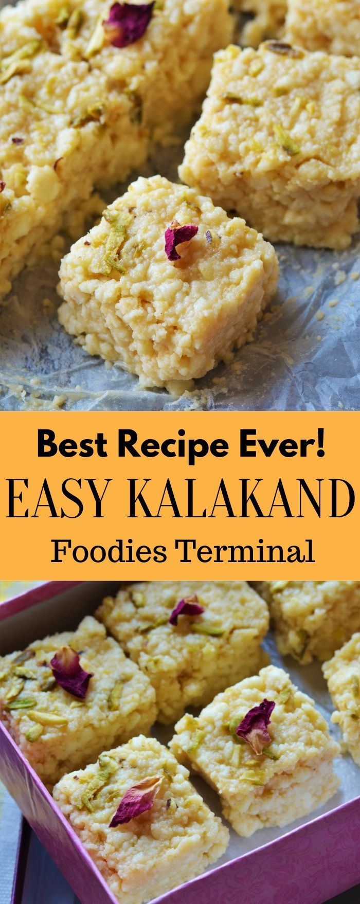 Kalakand Recipe Quick Kalakand With Condensed Milk Foodies Terminal Recipe Kalakand Recipe Easy Indian Dessert Recipes Easy Indian Dessert