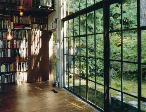 glass/black window wall