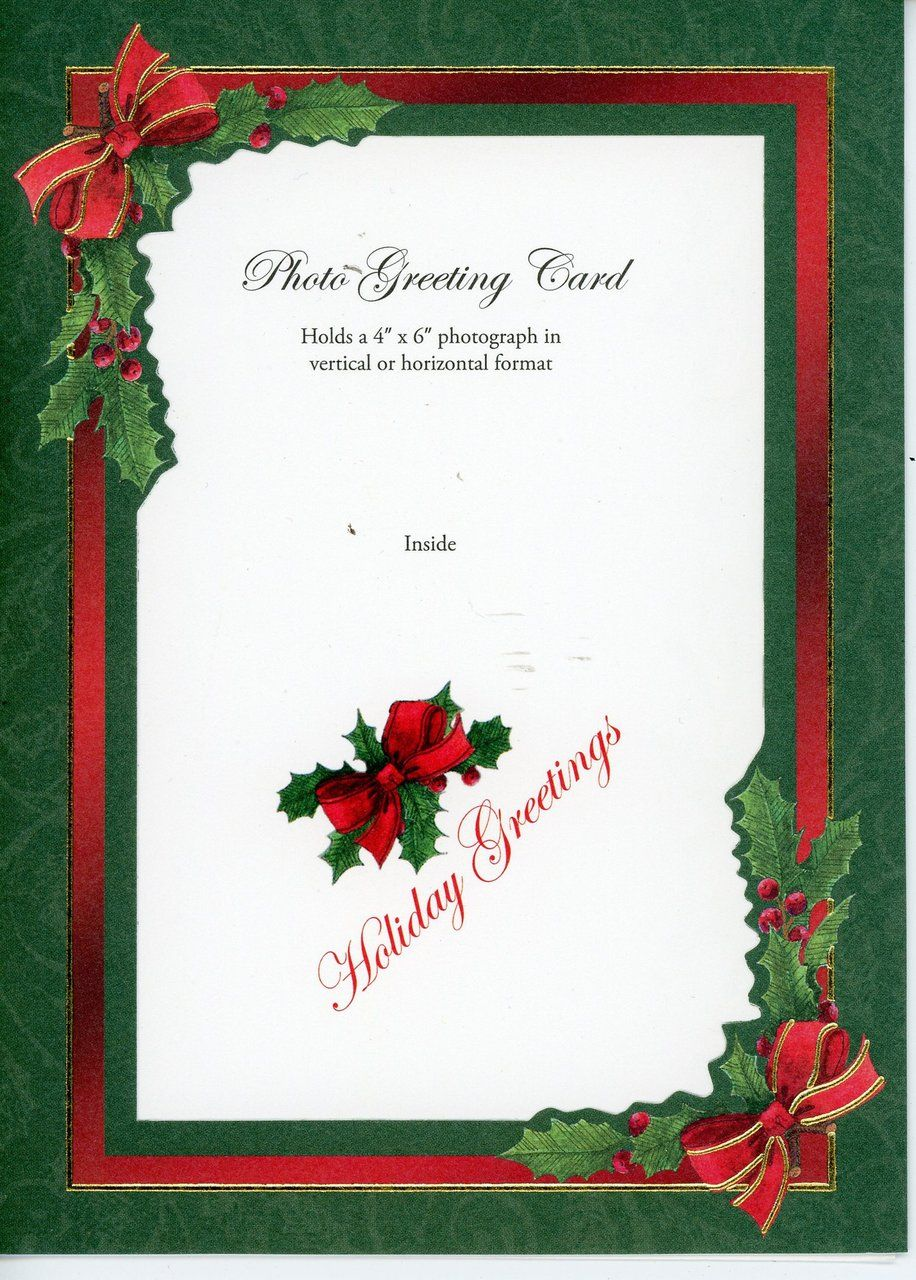Printed Holiday Cards 10 Pack With Images Photo Insert