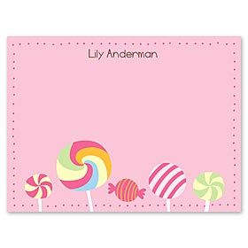 Personalized lollipop cards