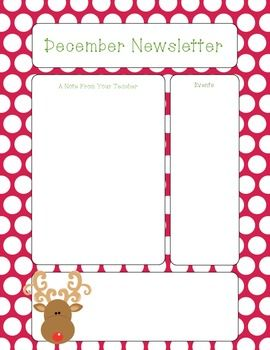 Free December Newsletter Template   Pinteres