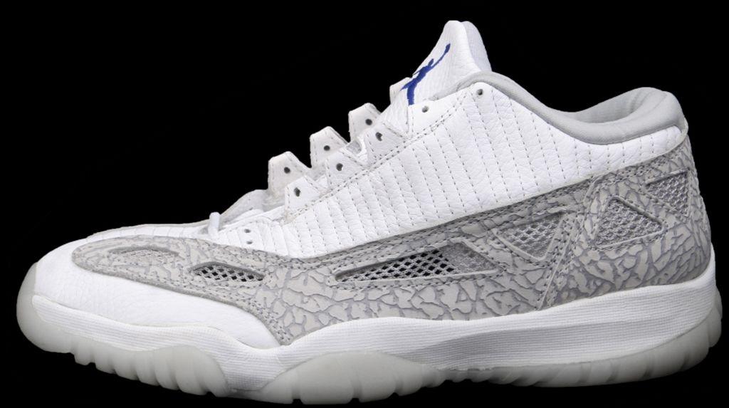 Wholesale Nike Air Jordan 11 Low IE White Light Grey Cobalt