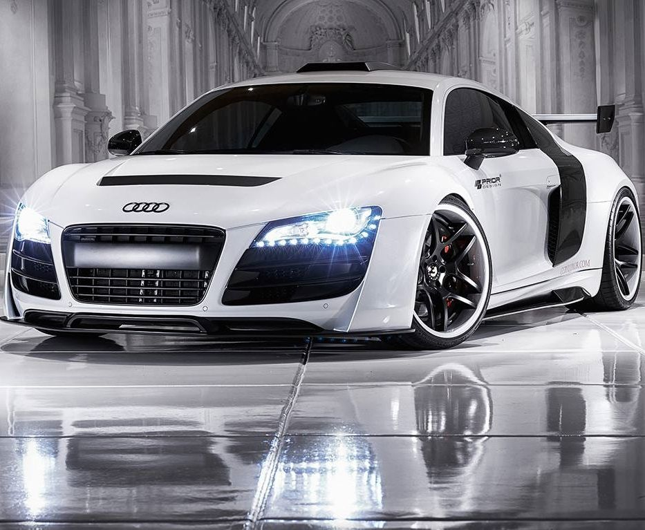 #Audi #R8 parked indoors on a lovely polished floor