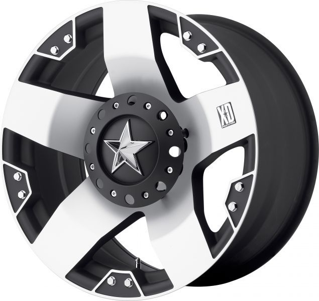 KMC 775 XD Rock Star 1-Piece Machined Black Alloy Wheel