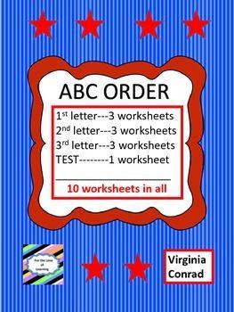 ABC Order Worksheet Set | Engaging, Challenging and Fun