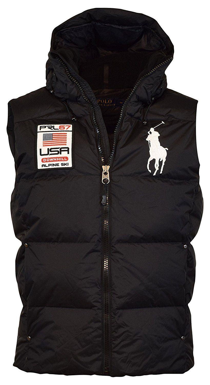 8032be0e2 Polo Ralph Lauren Big Pony Alpine Ski Patch Puffer Vest at Amazon Men's  Clothing store: