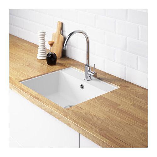 HÄLLVIKEN Inbouwspoelbak 1 bak - IKEA house kitchen Pinterest