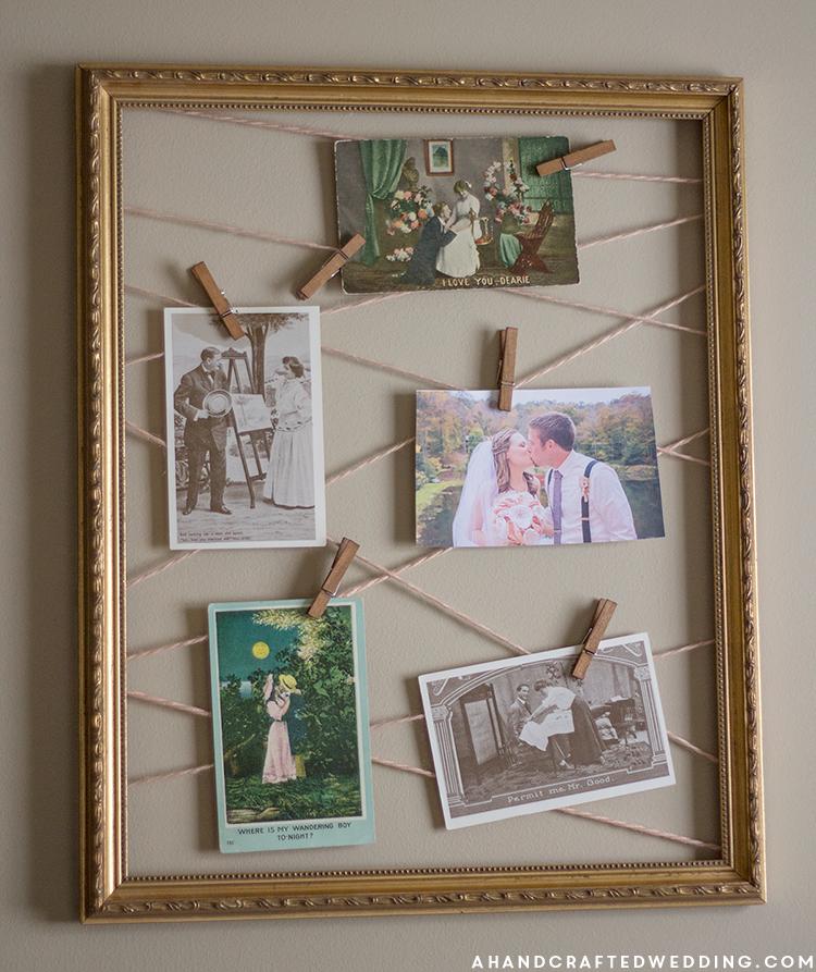 DIY Yarn Clothespin Frame | Yarns, Mountain modern and Rustic modern