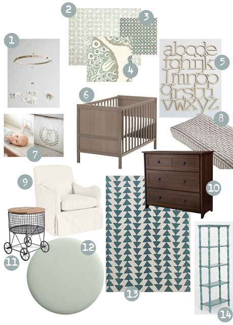 Neutral nursery design for the little ones f r die - Baby jungenzimmer ...