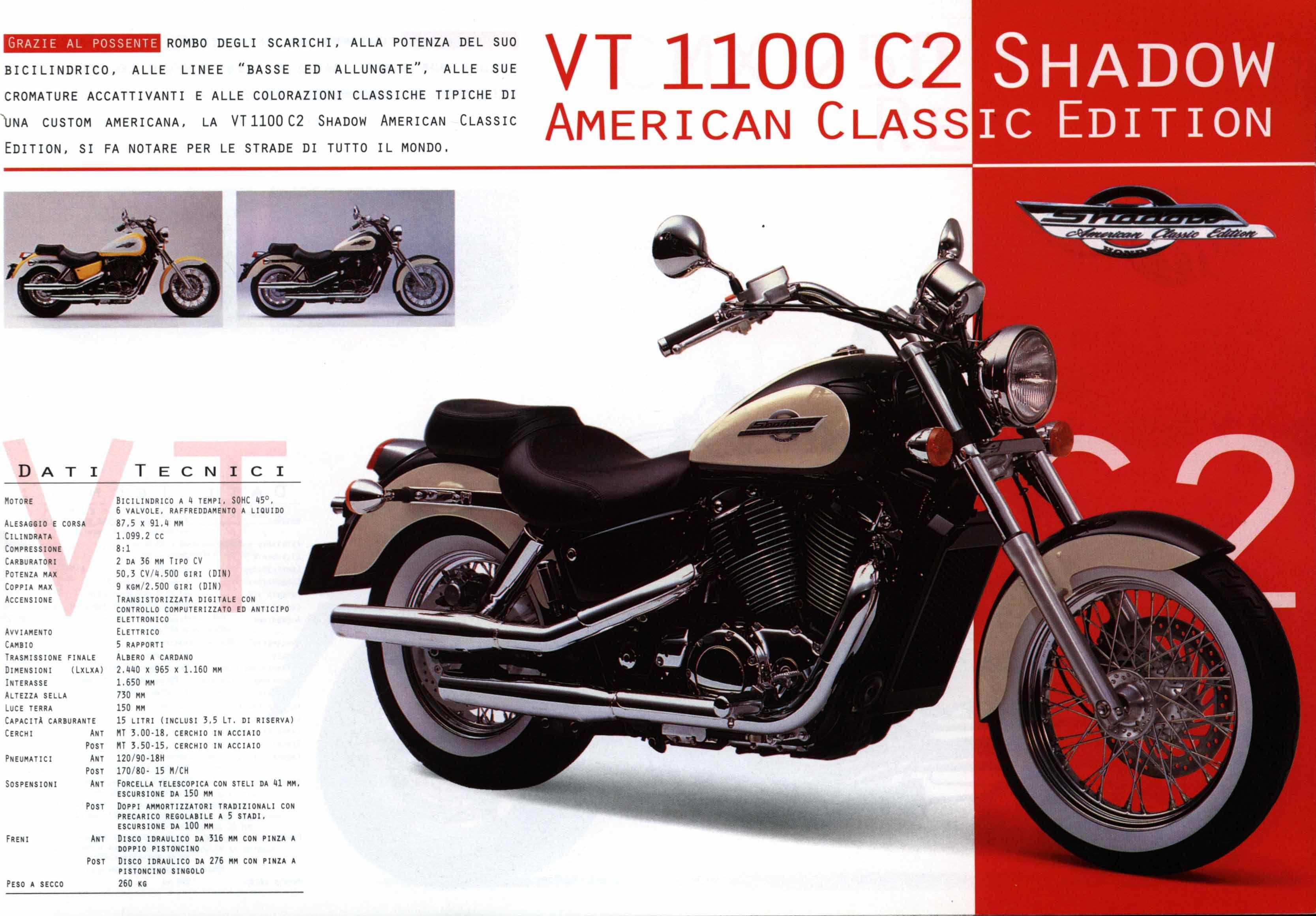 hight resolution of honda vt1100 c2 shadow american classic edition brochure