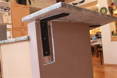 Countertop Support Bracket For Granite Quartz Hidden Front