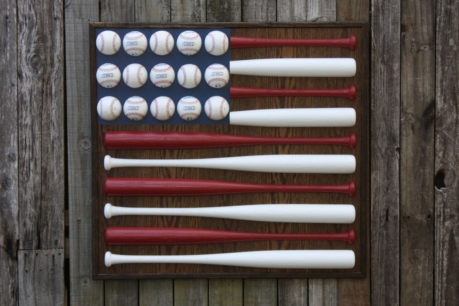 Patriotic Decorations Patriotic Red White And Blue Baseball Bat