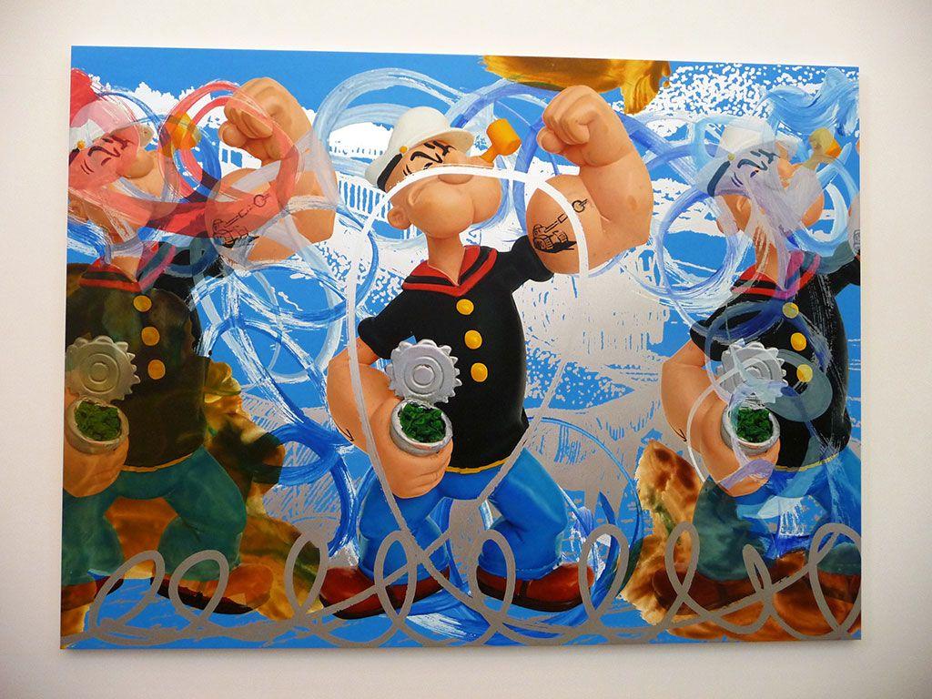 The coloring book koons - Popeye Le King Du Pop Art