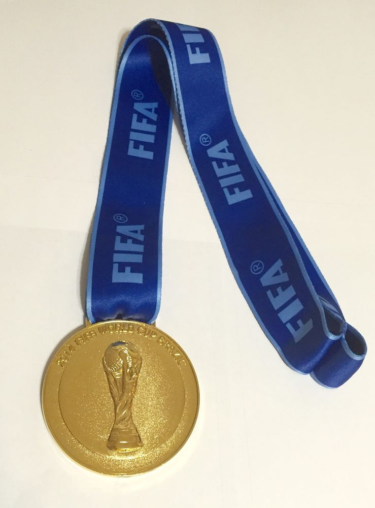 Brazil 2014 Fifa World Cup Champions Soccer Germany Gold Medal Solid Heavy New Ebay