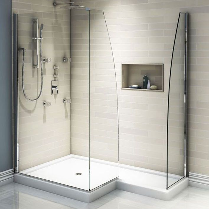 A Unique L Shaped 42 X 66 Shower Base Designed To Receive Three