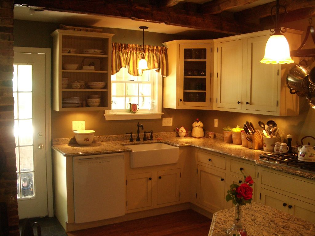 Yellow Cabinets Painted Cabinets Painted Kitchen Full Inset Open Shelves White Appliances Kitchen Cabinets Painting Kitchen Cabinets Candlelight Cabinetry