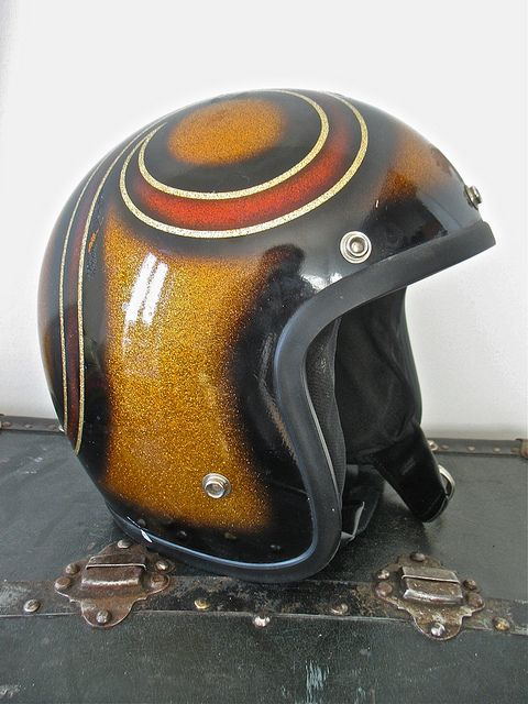 70 S Metalflake Helmet Vintage Helmet Retro Helmet Motorcycle Helmets Vintage