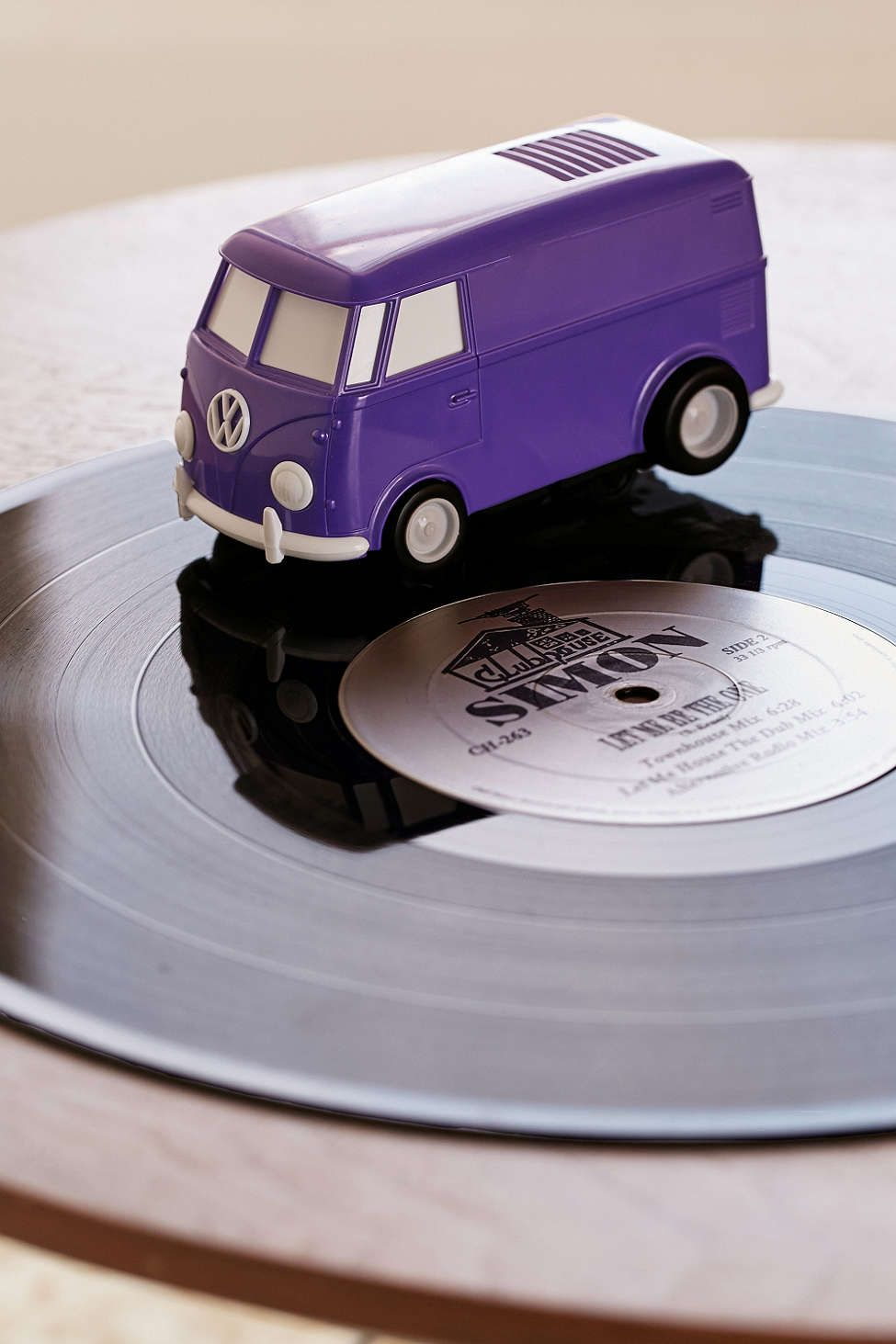 Record Runner Portable Vw Bus Vinyl Record Player Vinyl