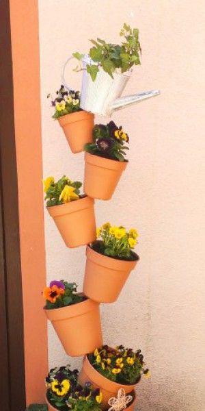 pflanzenturm zum selbermachen deko pinterest garten pflanzen und garten ideen. Black Bedroom Furniture Sets. Home Design Ideas