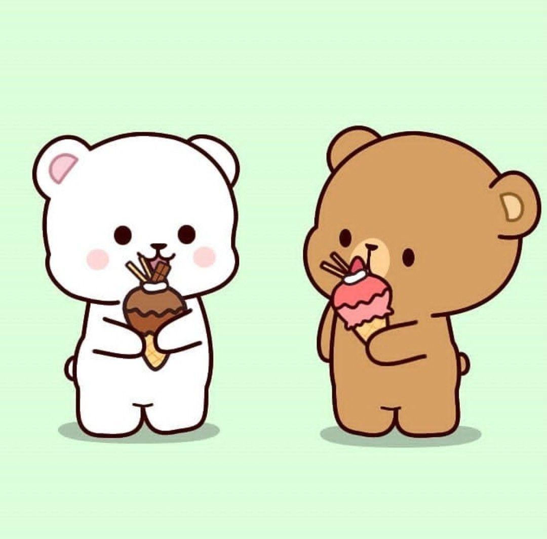 Happy Having Ice Cream Cute Bear Drawings Cute Doodles Cute Cartoon Wallpapers