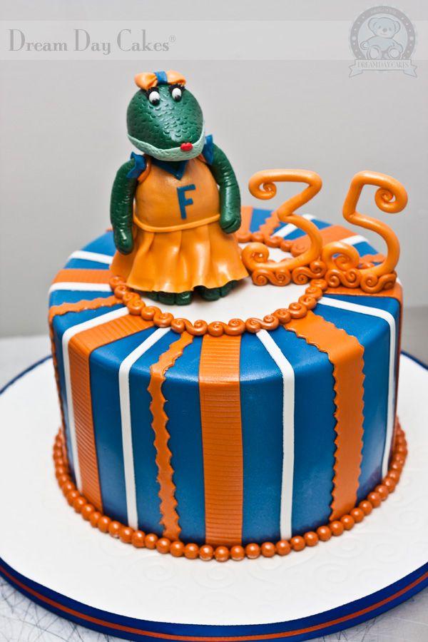 Gator Birthday Cake Cakes Pinterest Birthday Cakes Cake And