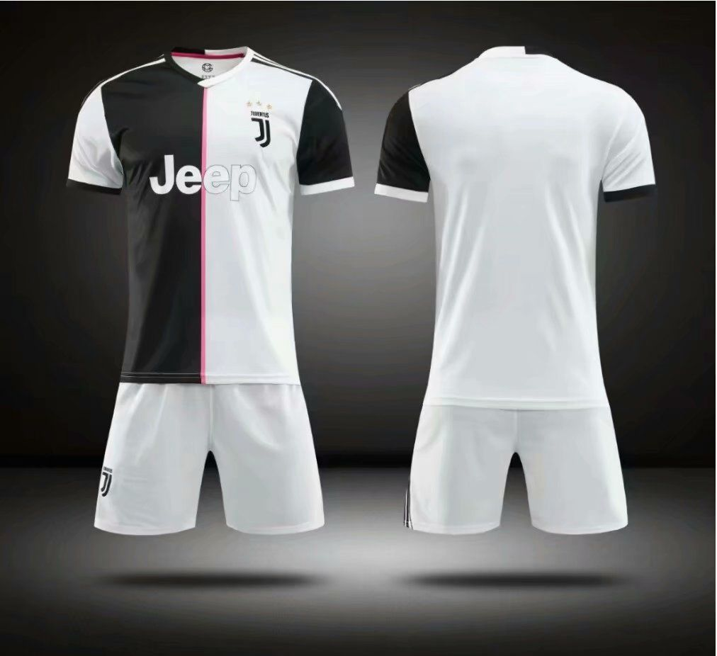 06d17efed Without Logo 2019-20 Kids Juventus Soccer Jersey Uniform Football Kits