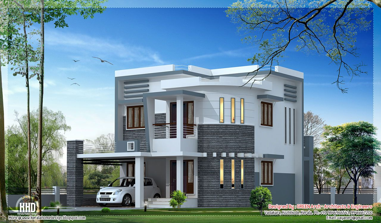Front Elevation Of Duplex House : Front elevation of duplex house in sq ft google