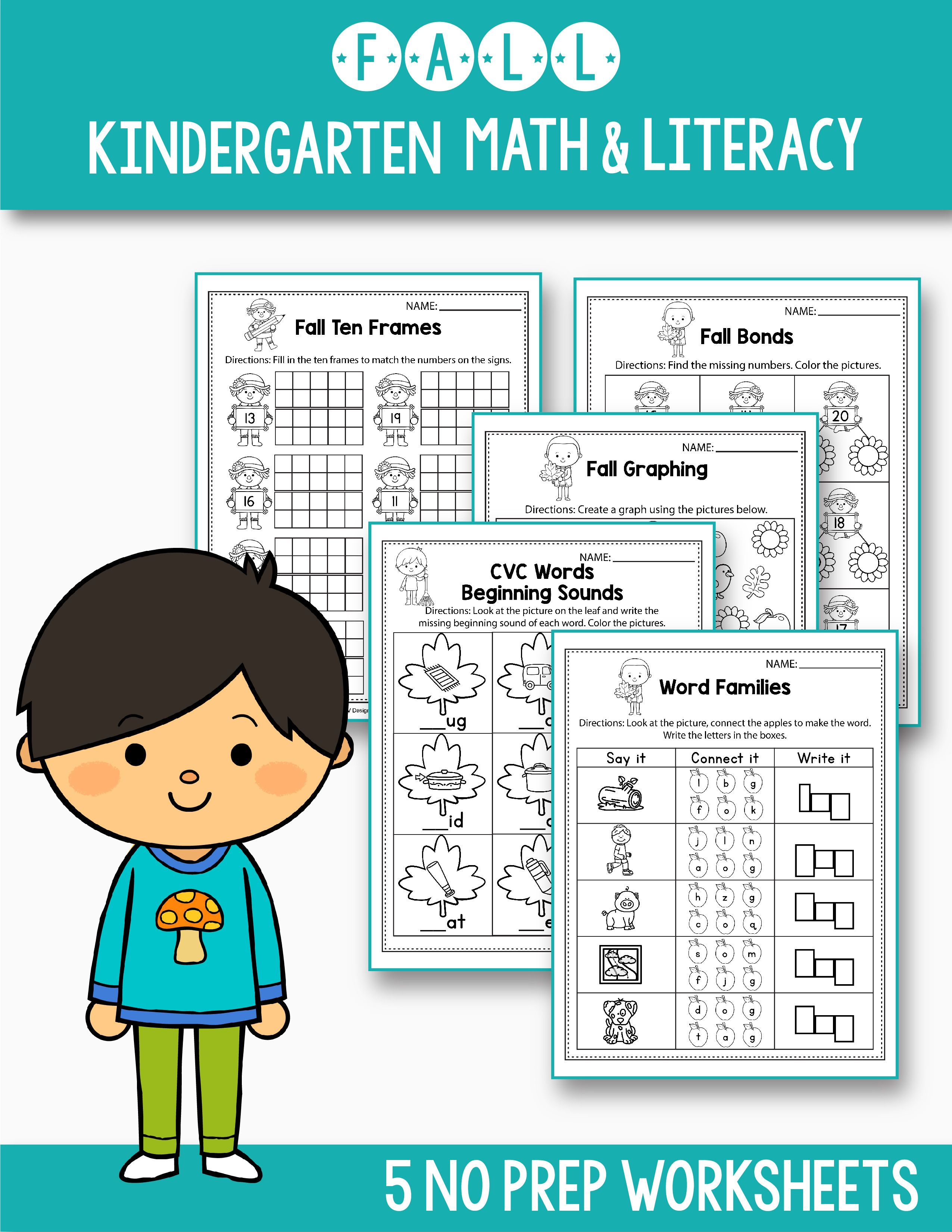 Free Math Amp Literacy Worksheets That Will Fit Your