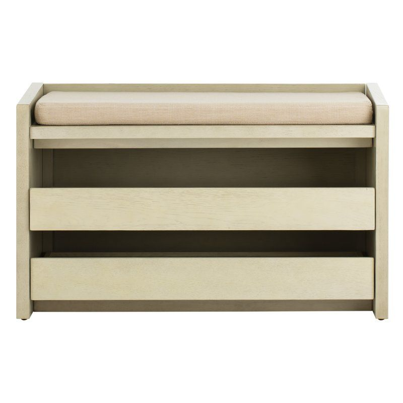 Byron Wood Storage Bench For Shoe Storage At Entry Storage Bench