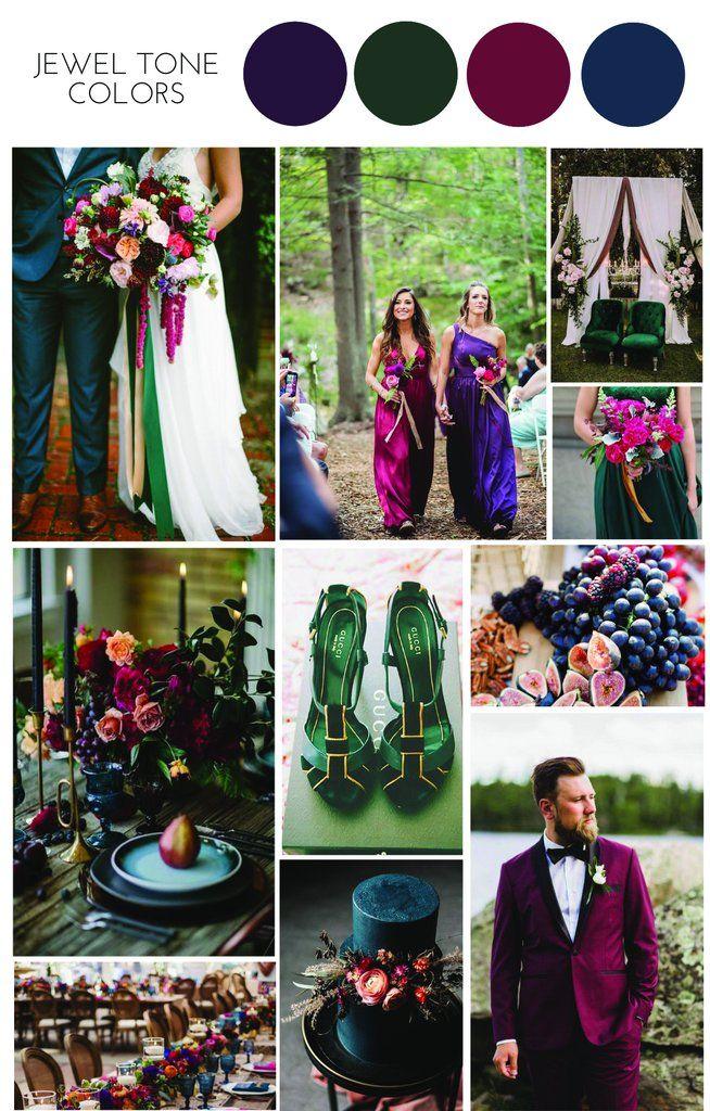 Jewel Tone Colours Wedding Inspiration – Confetti Sweethearts