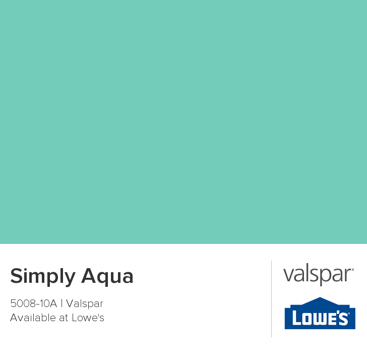 Valspar Paint - Color Chip - Simply Aqua