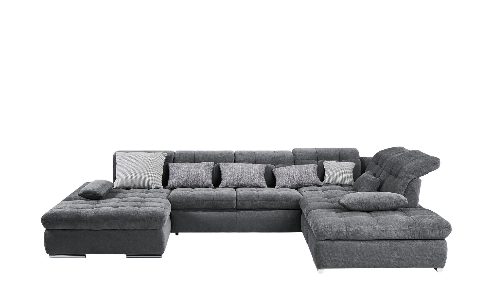 Wohnlandschaft Grau Webstoff La Palma Mit Bildern Schlafsofa Günstig Big Sofa Kaufen Wohnen
