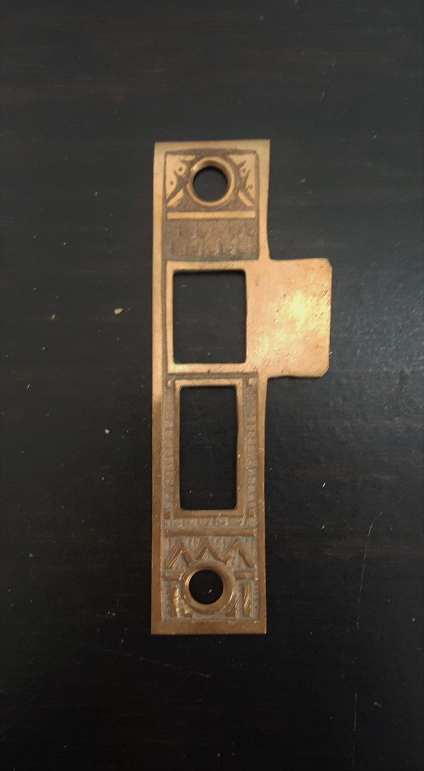 Antique Mortise Lock Strike Plate 530725 by CharlestonHardwareCo on Etsy & Antique Mortise Lock Strike Plate 530725 by CharlestonHardwareCo on ...