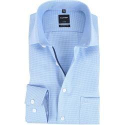 Olymp Luxor Modern Fit Hemd Blau Design Olympolymp #Fitness design Herrenlangarmhemden