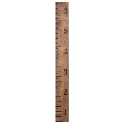 Product Details Oversized Ruler Wood Wall Plaque New