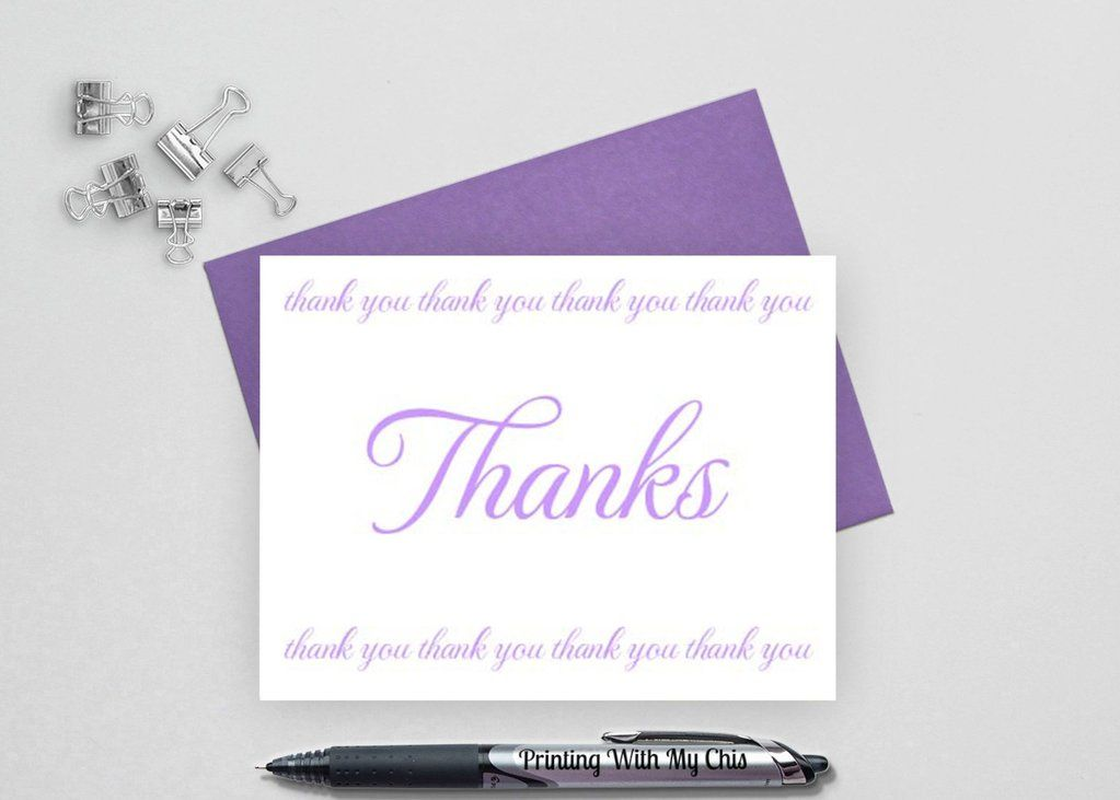 Thank You Note Cards, Wedding Thank You Cards, Folded Crafting