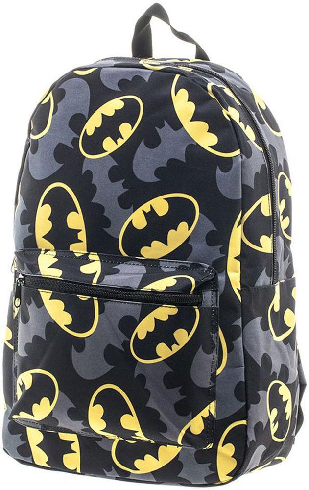 (NEW) DC Comics Batman Bat Signal Backpack Kids in Black / Gray # BQ1V53BTM #DCShoes #Backpack