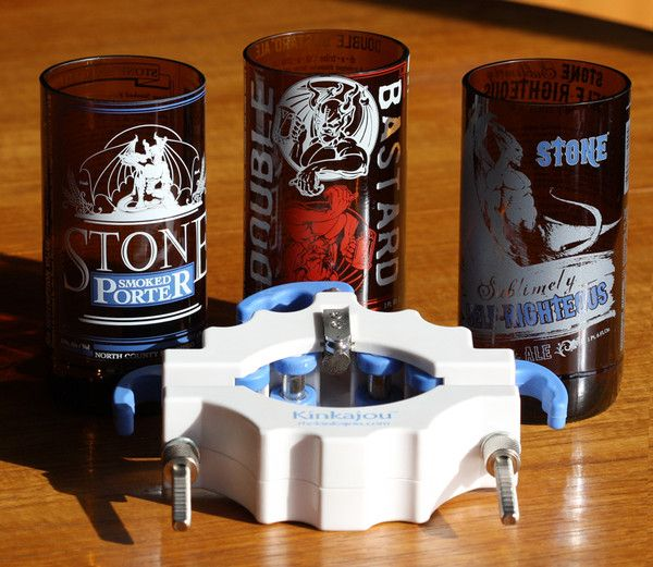 The kinkajou bottle cutter daily living brief do it yourself the kinkajou slices through glass bottles letting you create your own diy glassware from your favorite beverage brands solutioingenieria Images
