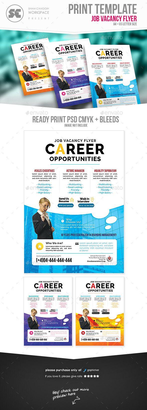 Job Vacancy Flyer Template Psd Flyer Templates Pinterest Flyer