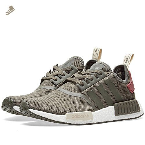 NMD R1 W Ladies in Utility Green/Maroon by Adidas, 8.5 - Adidas sneakers