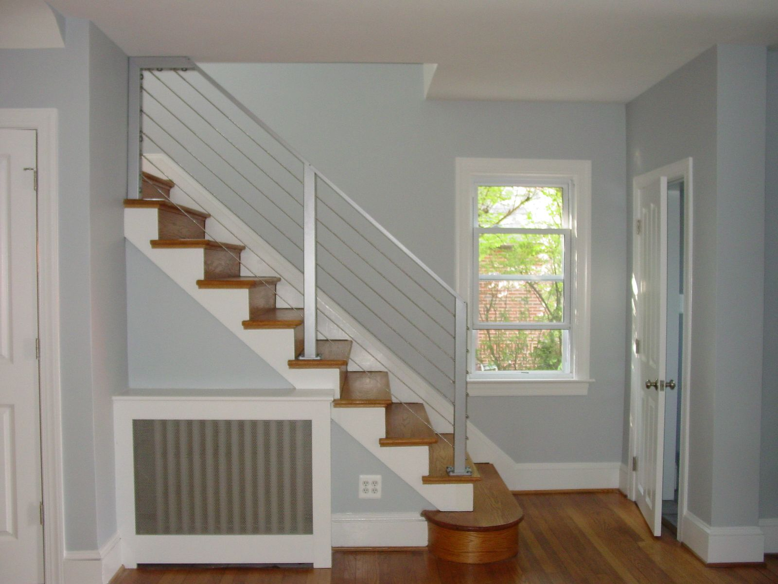 Best Fancy Silver Modern Stair Railing Contemporary Stainless 400 x 300