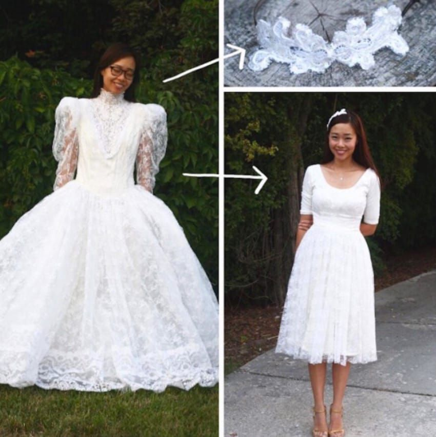 Mom Buys Poofy Wedding Gown At Thrift Store, Then Transforms It Into ...