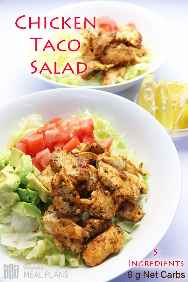 Low carb diabetic meal: Chicken Taco Salad   Paleo Recipes For ...