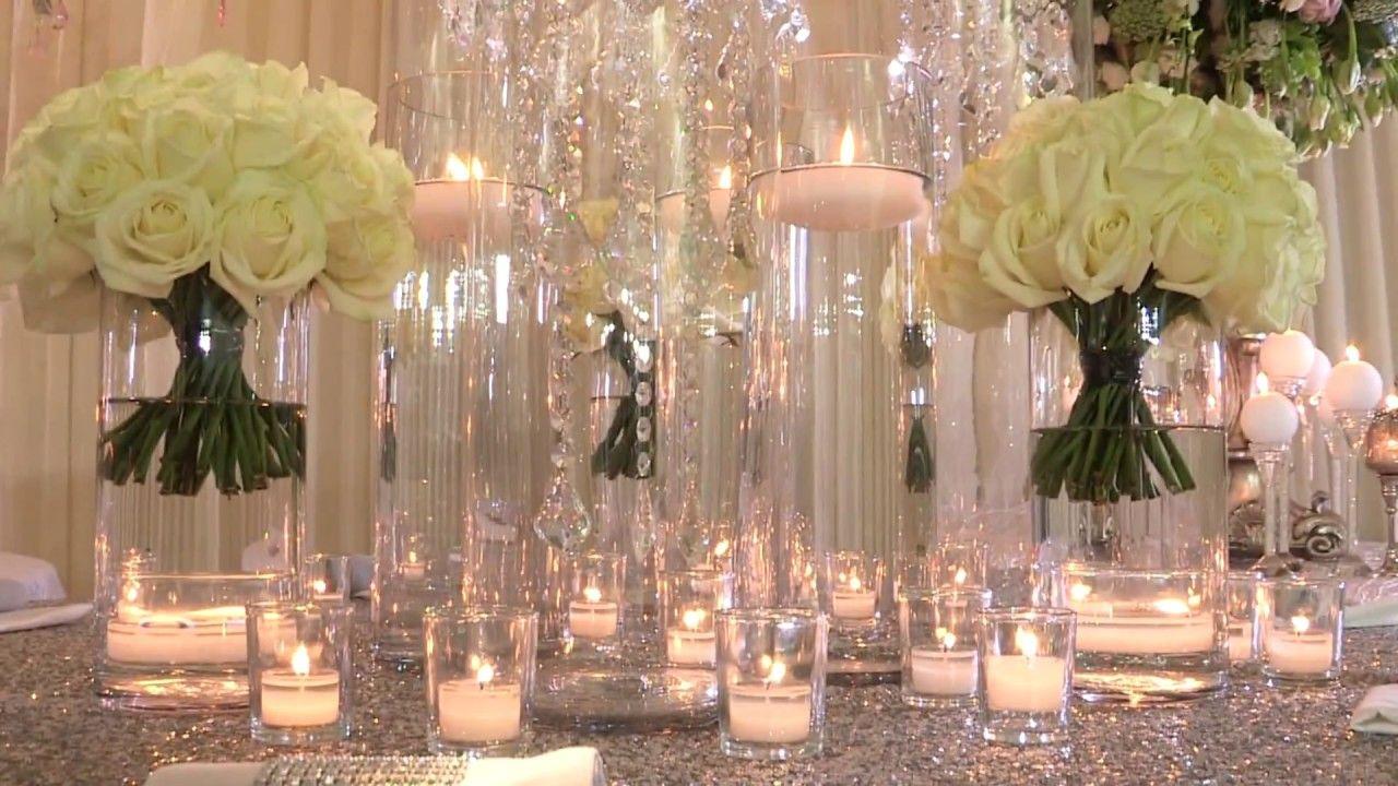 مشاهد للمونتاج دعوة زواج دعوة الكترونية زفاف قاعة شموع ورود Hd Youtube Table Decorations Glass Vase Decor