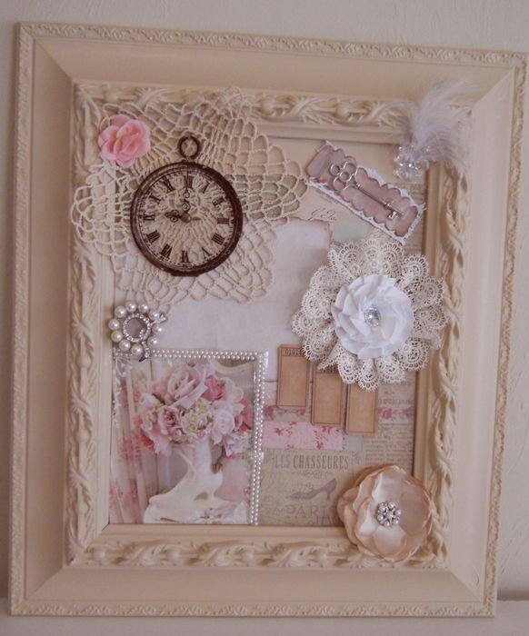 Diy Shabby Chic Framed Collage Home Vintage Decorate Diy Frame