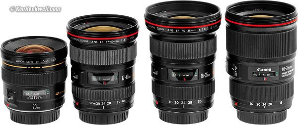 Canon Ultrawide Sharpness Comparison Canon Lens Zoom Lens