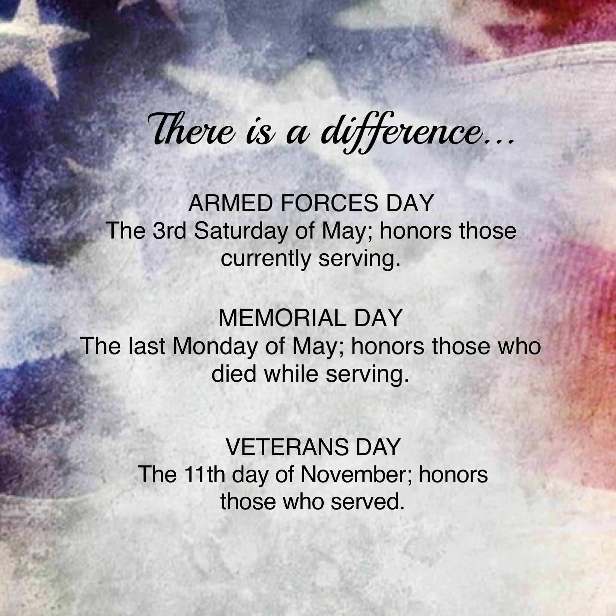 Know the difference: Armed Forces Day, Veterans Day ...