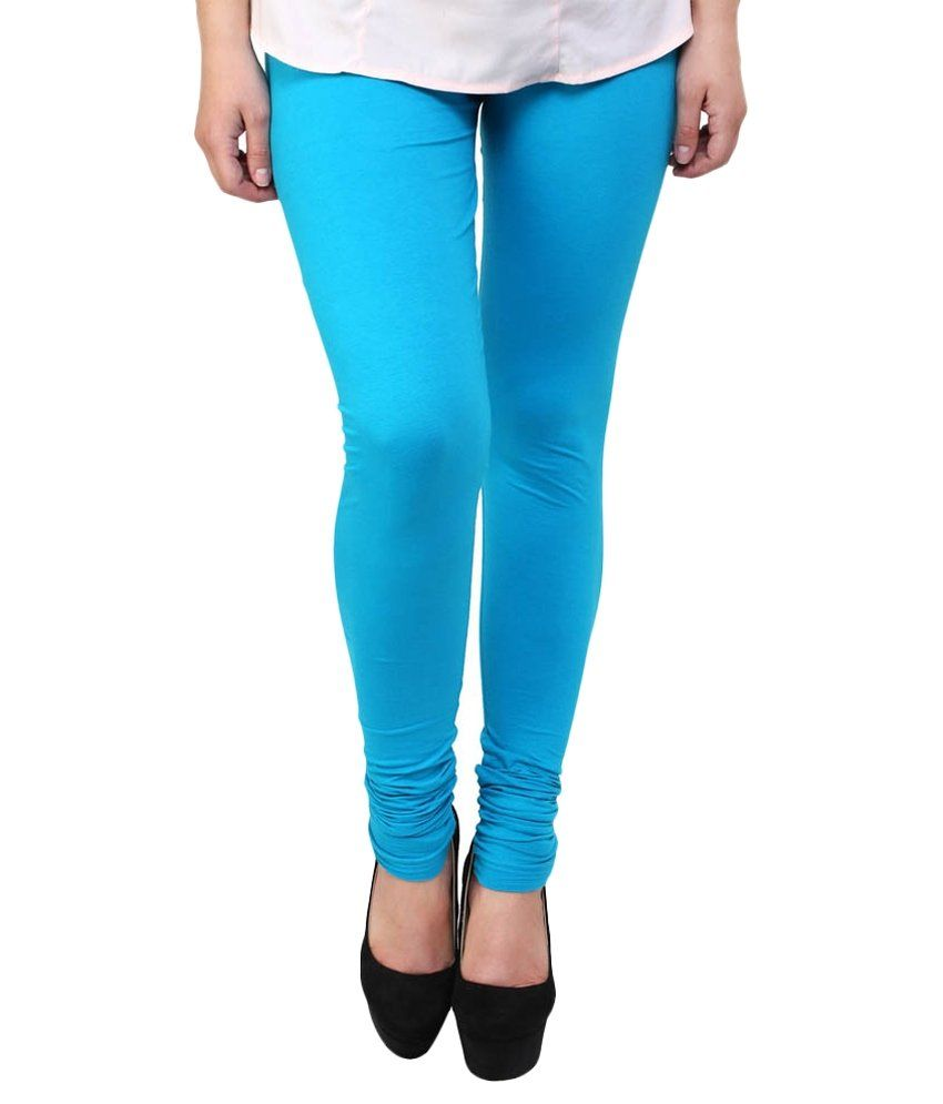 ae4f44baf238f Konisha leggings Turquoise Cotton leggings available at snapdeal for Rs.199