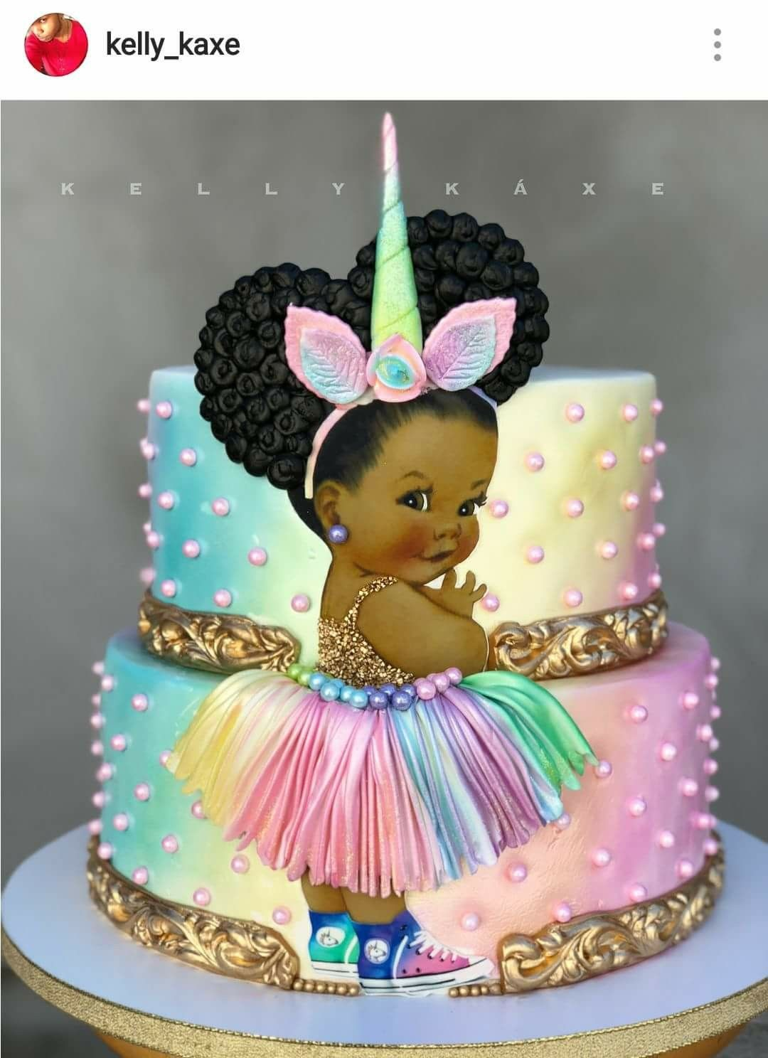 Unicorn Princess Theme Custom Birthday Cake